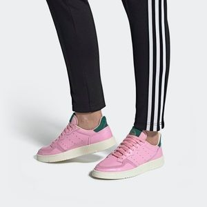 Adidas supercourt pink shoes